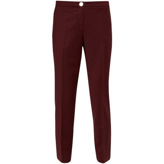Ted Baker Delihat Straight Leg Tailored Trousers, Oxblood ($170 ...