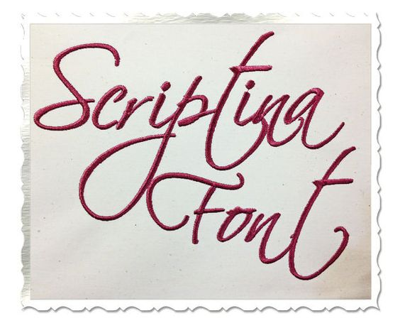 Scriptina Machine Embroidery Font Monogram by RivermillEmbroidery, $2.95