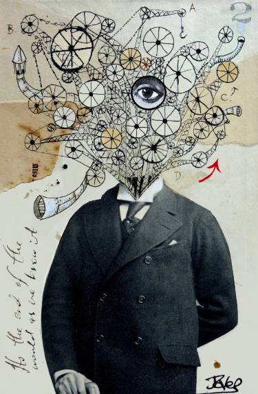 "Saatchi Art Artist Loui Jover; Collage, ""mr mechanoid"" #art"