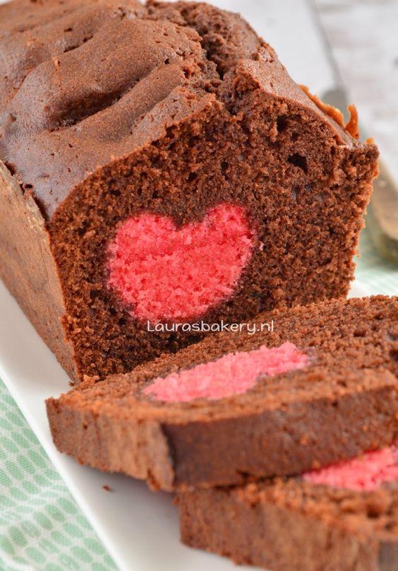 Harten chocoladecake - chocolate heart cake - Laura's Bakery