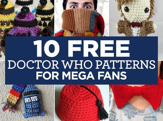10 FREE Doctor Who Patterns For Mega Fans