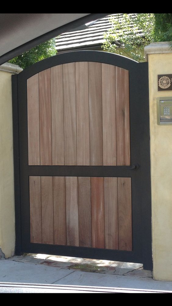 Iron and wood fence gate casa pinterest metal frames