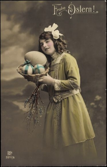 Frohe Ostern! Easter Card 1911