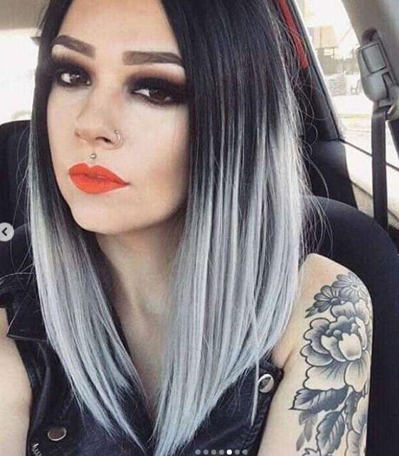 Siyah Gri Sac Modelleri 2019 Grayhairstyles Siyah Renkli Sac