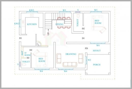 Awesome 3 Bhk House Plans In Kerala Arts Kerala Villa Floor Plans Picture House Floor Plans Kerala House Design House Floor Plans Modern House Plans