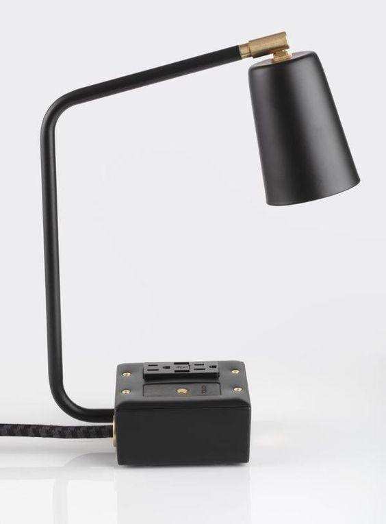 Jax Touch Smart Usb Task Lamp Carrara Black Task Lamps Lamp Modern Task Lamp