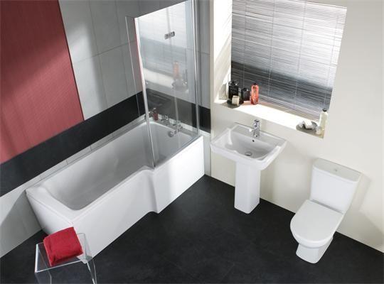 Lavender Square Shower Bath Suite