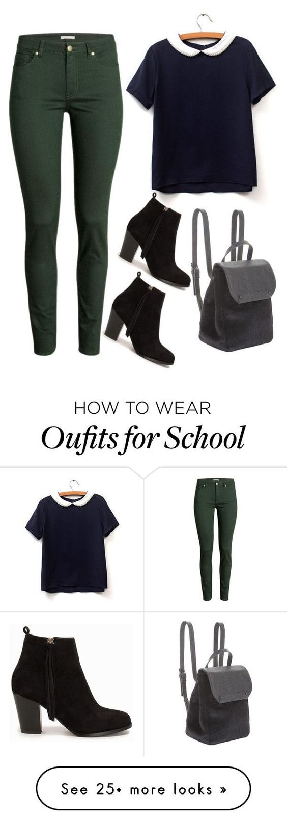"""""""school is my problem"""" by ziva-vrabac on Polyvore featuring H&M, BCBGeneration and Nly Shoes"""