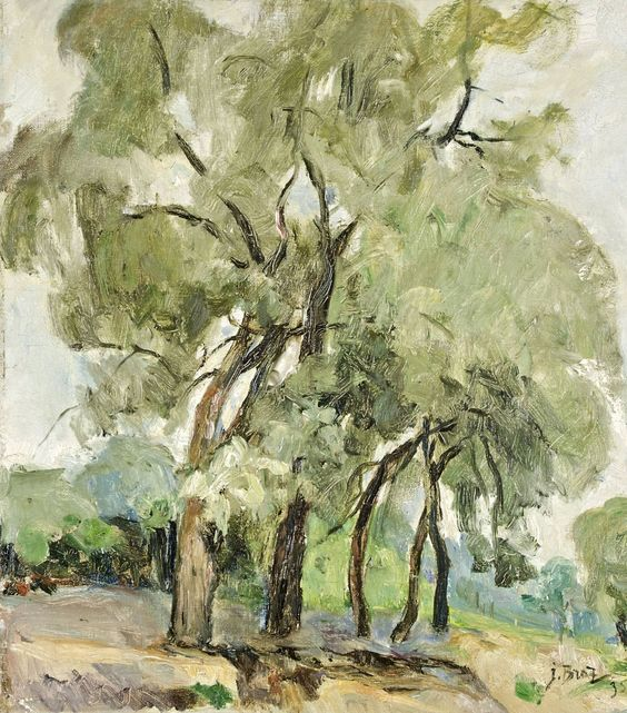 thunderstruck9:  Osip Braz (Russian, 1873-1936), Leafy trees, 1935. Oil on canvas mounted on cardboard, 51.5 x 46 cm.