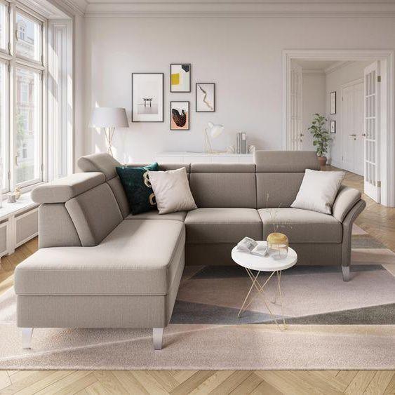 Sit More Eckcouch Beige Stoff In 2020 Mit Bildern Ecksofa Couch