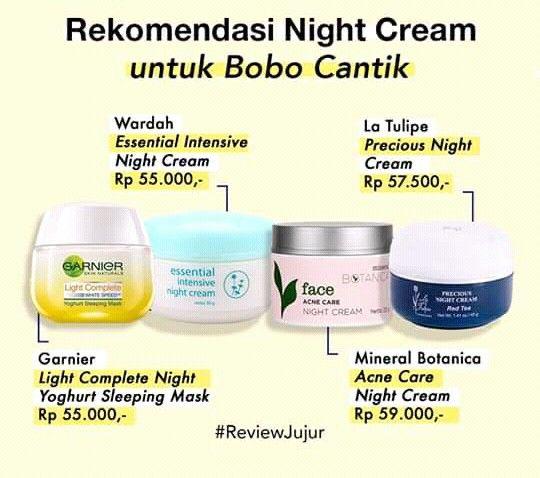 Rekomendasi Night Cream Untuk Kulit Berminyak Dan Berjerawat