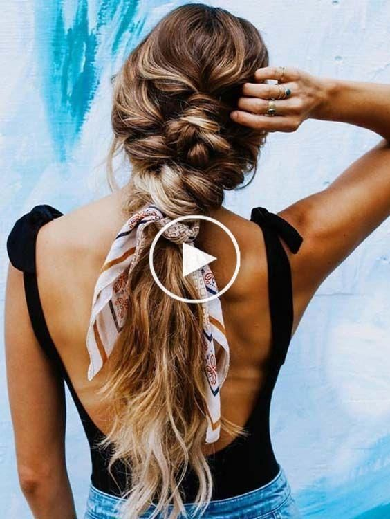 Coiffure Avec Foulard Cheveux In 2020 Scarf Hairstyles Bow Hairstyle Beautiful Braids