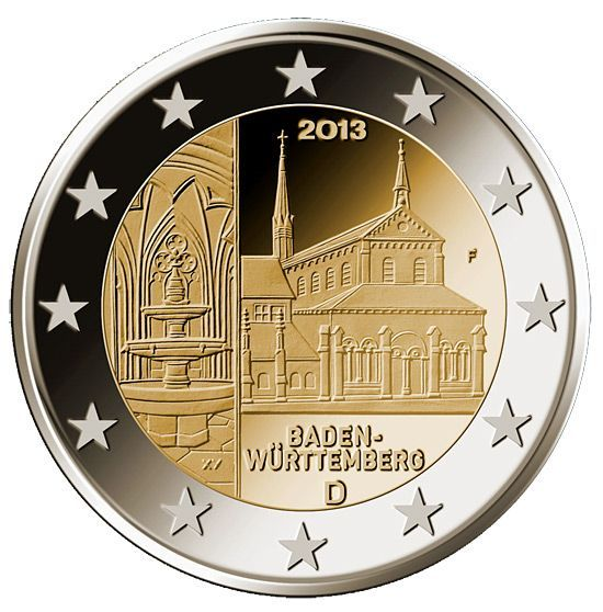 2 Euro Germania 2013 Baden Wurttemberg Kloster Maulbronn Land Deutschland Jahrgang M Gewicht In 2020 Seltene Munzen Wurttemberg Wertvolle Munzen