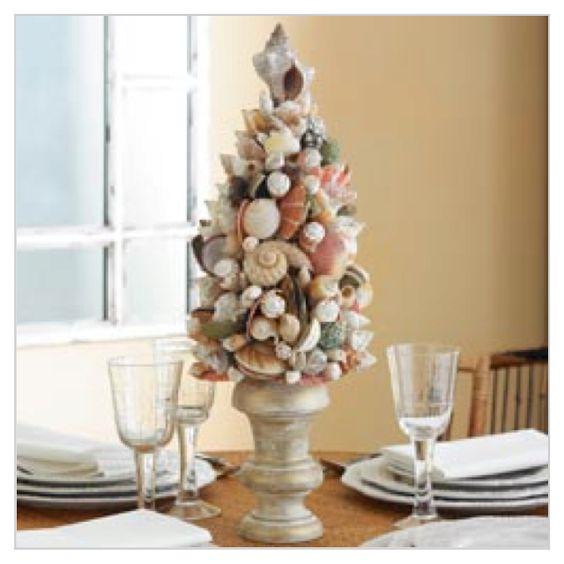 coastal decorating ideas   shell tree   Coastal Ideas and decor
