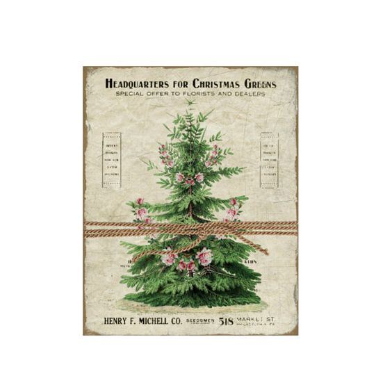 Check out Vintage Christmas Botanical -  Christmas Graphics - Large Image - Instant Download - Digital Collage Sheet Printable on frenchpapermoon