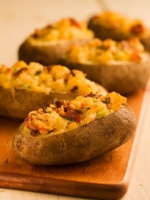 Chef Michael Smith's Twice-Baked Potatoes  ::   A baked stuffed potato is a thing of beauty. It's the perfect blend of all your favourite potato topping flavours mixed together in an easy-to-make, easy-to-serve, all-in-one package.
