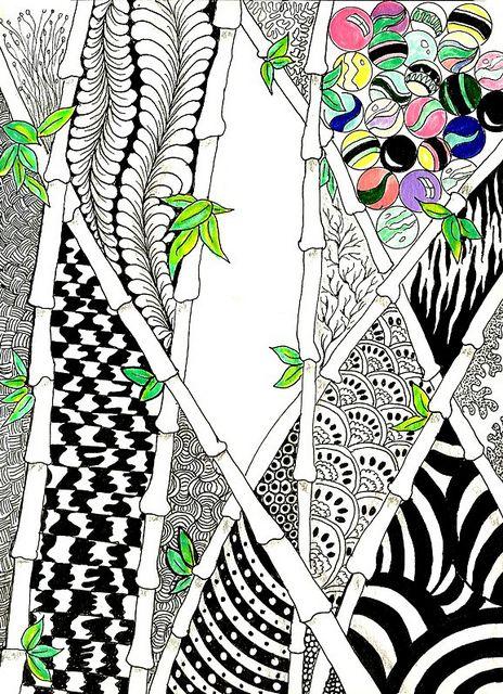Bamboo Zentangle Inspiration