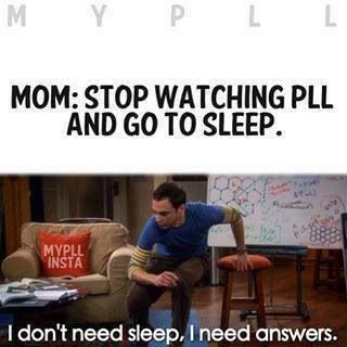 Yeah.... but we don't get answers until the LAST FREAKING SEASON!!!!