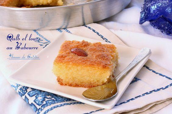 Qalb el louz au babeurre, un vrai délice oriental à essayer d'urgence !  Heart of Almond, a real oriental delight, to try asap!