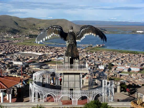 Climb to the iconic mirador in Puno, Peru to see unforgettable views of Lake Titicaca.