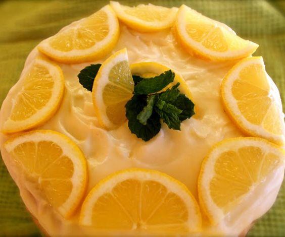 Lemon Layer Cake with Limoncello or Lemon Icing