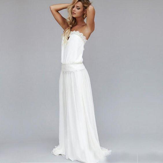 ... robes de mariée Boho Hippie dans Robes de mariée de Mariages et