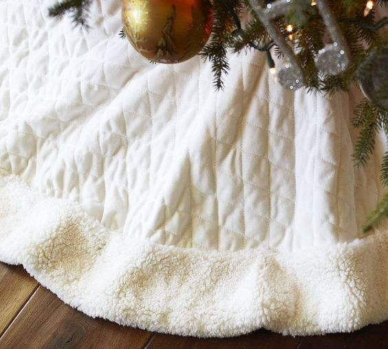 Personalized Channel Quilted Velvet Tree Skirt