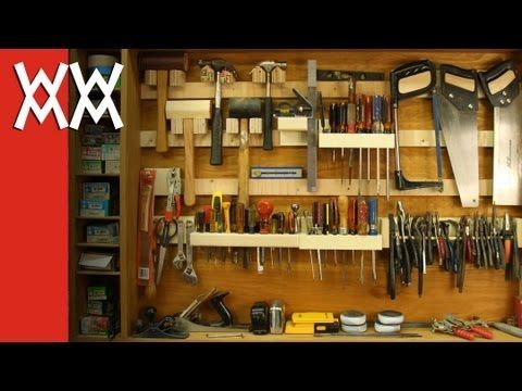 French cleat storage system for hand tools