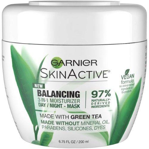 Garnier SkinActive Balancing 3-in-1 Moisturizer Day/Night (Black) Mask, 6.75 fl oz