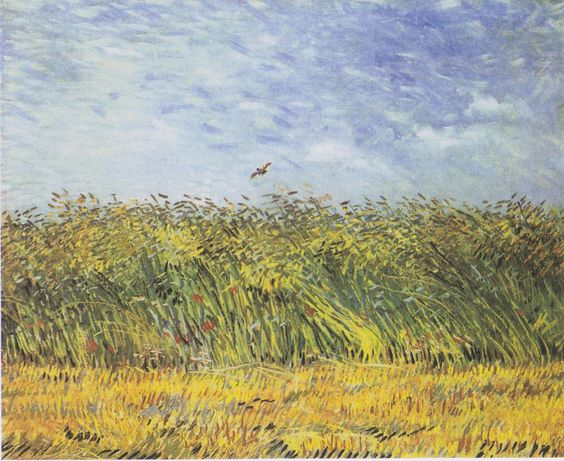 Van Gogh Getreidefeld Mit Mohnblumen Und Lerche Wheat Field With A Lark Wikipedia Van Gogh Art