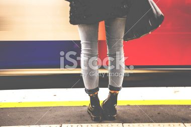 Woman legs in the Tube Royalty Free Stock Photo