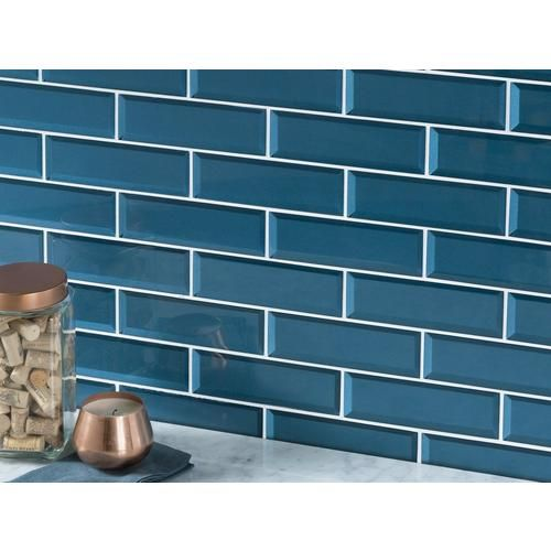 Parisian Blue Glass Wall Tile 2 5 X 8 100463280 Floor And Decor Blue Glass Tile Glass Tile Wall Tiles