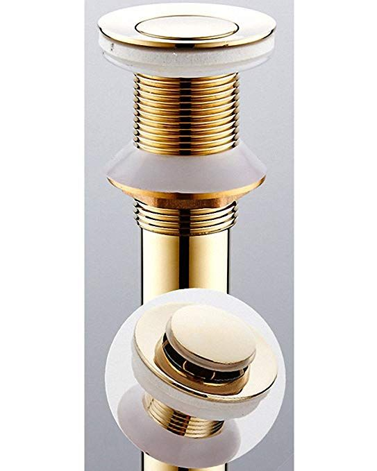 700brass Pop Up Drain Finger Touch Drain Without Overflow Holes