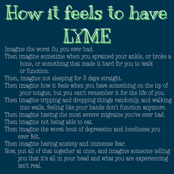 How it feels to have Lyme disease 100% accurate