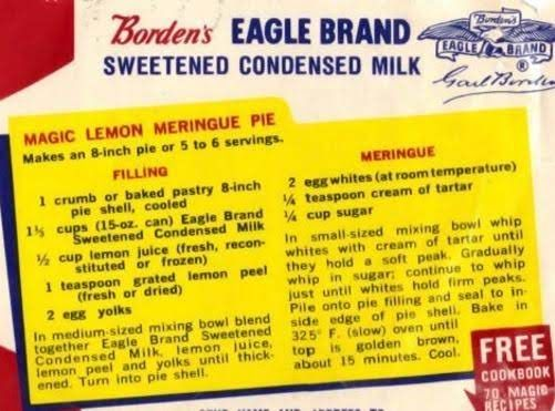 Magic Lemon Pie 1952 Recipe Meringue Pie Recipes Meringue Pie Lemon Pie Recipe