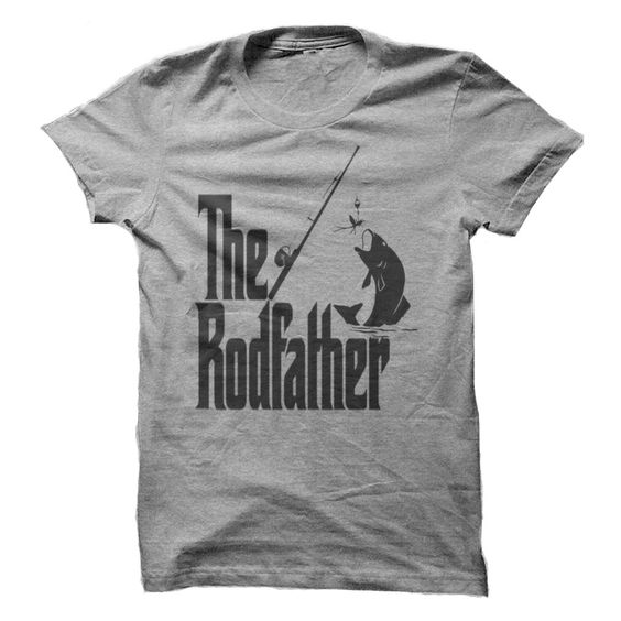 The rodfather godfather parody fishing t shirt great for Fishing gifts for dad