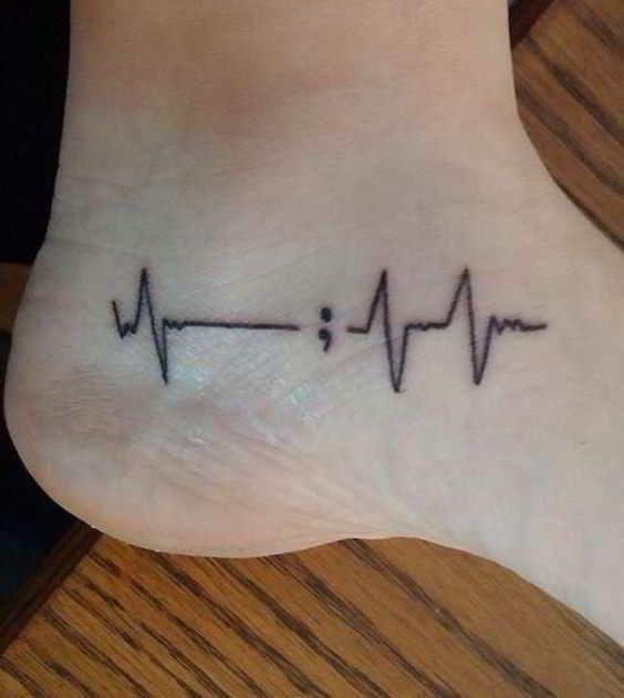 65 Tatuajes De Punto Y Coma Y Su Significado Tatuajes De Puntos