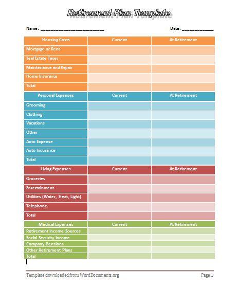 worksheets retirement worksheet opossumsoft worksheets and printables. Black Bedroom Furniture Sets. Home Design Ideas