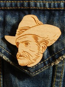 Cowboy brooch by Matt Taylor, £16