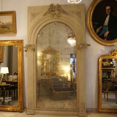 Grand Miroir De Chateau Glace Oiseaux & Colonnes - H 262 Cm - http ...