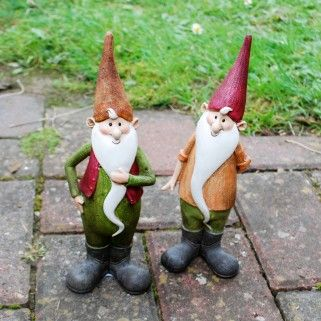 Cheerful & Colourful Bearded Resin Garden Gnome - Maurice or Magnus Available