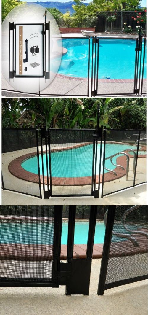 Brand New Pool Fence Diy By Life Saver Self Closing Gate Kit Black Pool Fence Diy Pool Fence Pool Gate