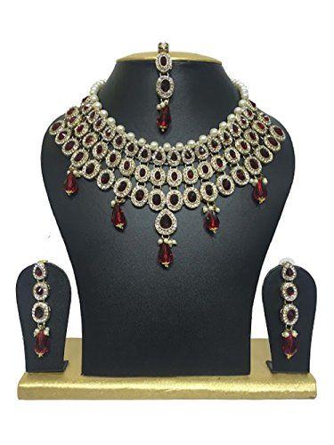 Most Elegant Maroon White Cz Stones Necklace Earrings Fas... https://www.amazon.com/dp/B01J3JFIY6/ref=cm_sw_r_pi_dp_x_eU16xbQ05WNHG