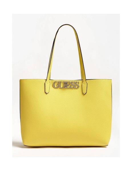 Bolso Guess Shopper Uptown Chic Amarillo Para Mujer | Bolsos