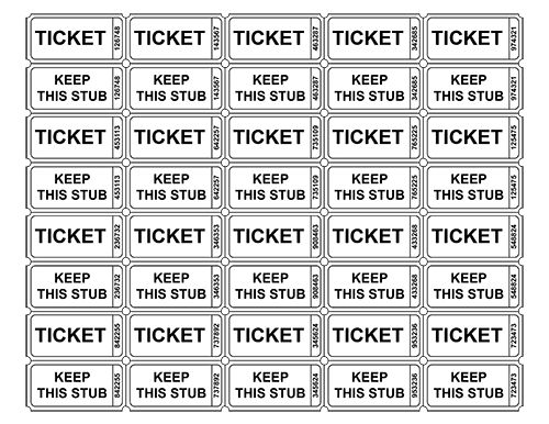 free printable raffle tickets – Free Raffle Templates