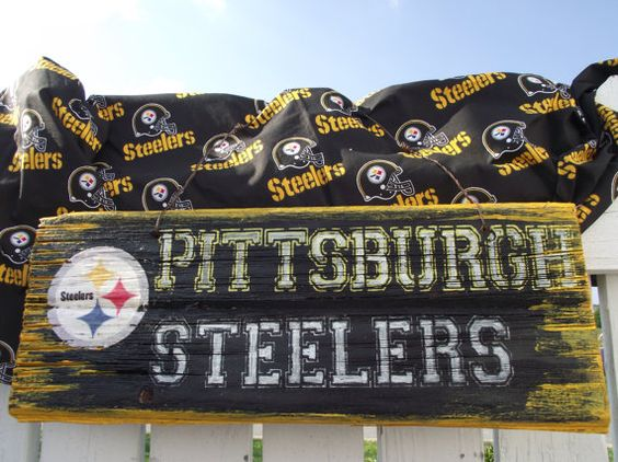 Pittsburgh Steelers Sign Reclaimed Wood Sign Recycled Wood Sign Rustic Wood  Sign Steelers fan - Pittsburgh Steelers Sign Reclaimed Wood Sign Recycled Wood Sign