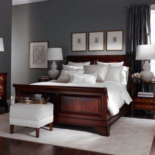 How To Complement Dark Wood Bedroom Furniture Decorating Ideas Brown Furniture Bedroom Master Bedrooms Decor Wood Bedroom Furniture