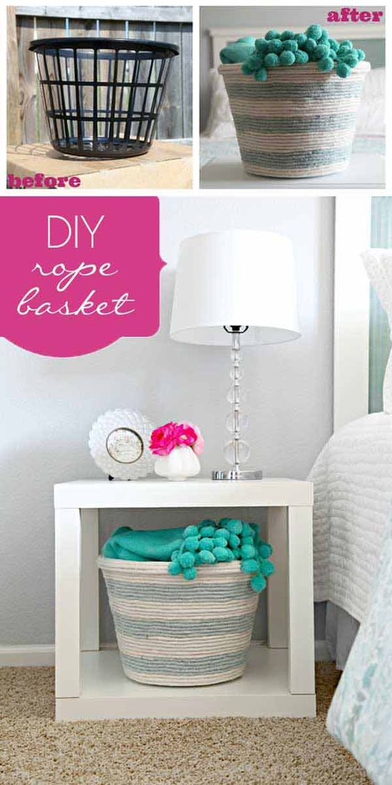 34 amazing diy tips to decorate your home using rope 33 amazing inexpensive home decorating ideas