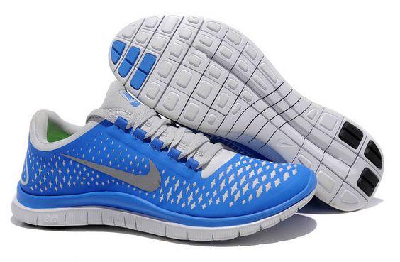 Mens Nike Free 3.0 V4 Soar Reflect Silver Pure Platinum Shoes