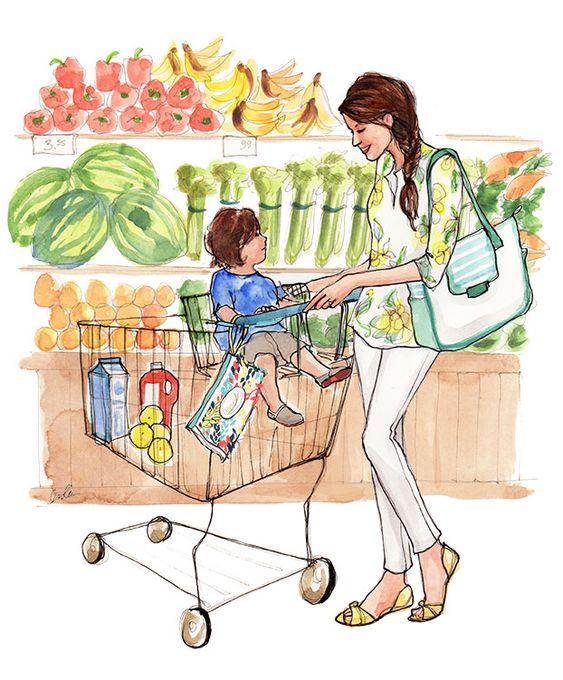 Markette anne ve çocuk Huggies-Inslee-2: